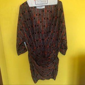 100% Silk drape dress